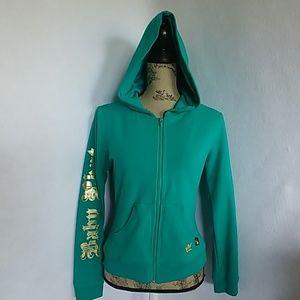 Vintage Women's Baby Phat Green Hoodie Jacket